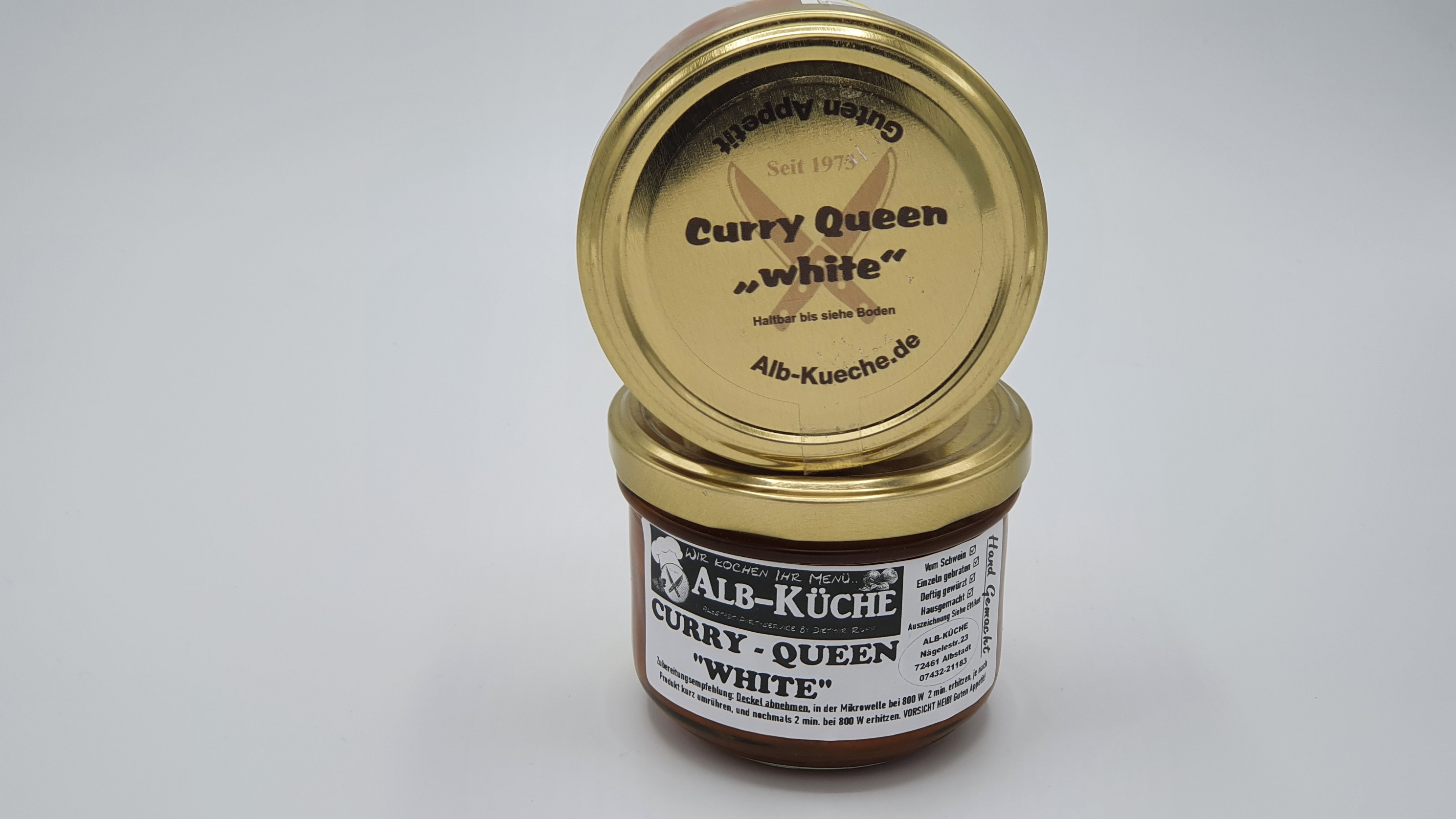 Currywurst Curry Queen White